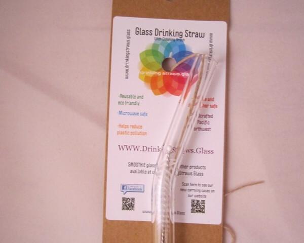 Quality curved glass straw