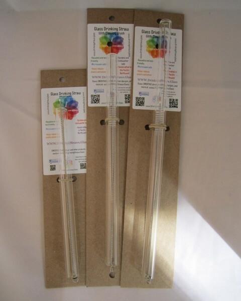 smoothie glass straws 12mm