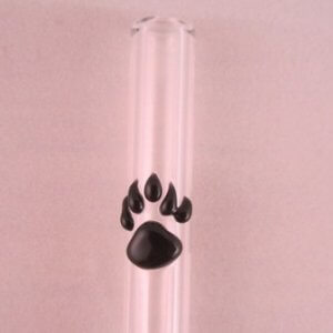 Bear Paw custom accent reusable glass straw