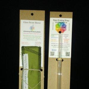 glass straw travel set