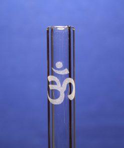 om symbol glass drinking straw resized